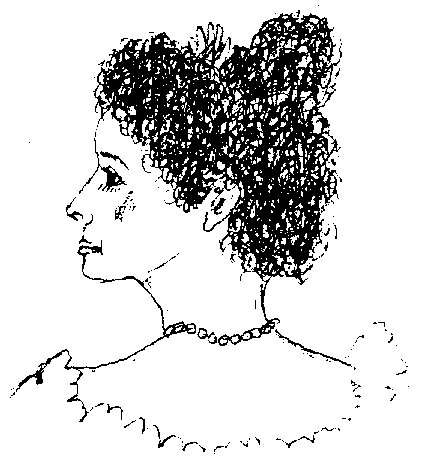 Drawing of Crown-Princess Kaiulani of Hawaii (1875-1899)