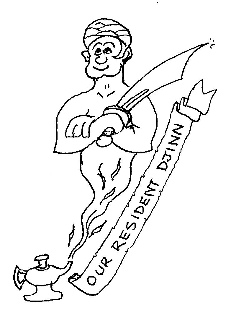 Sketch of Our resident djinn