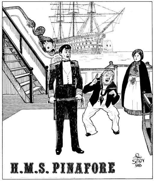 Illustration for H.M.S. Pinafore