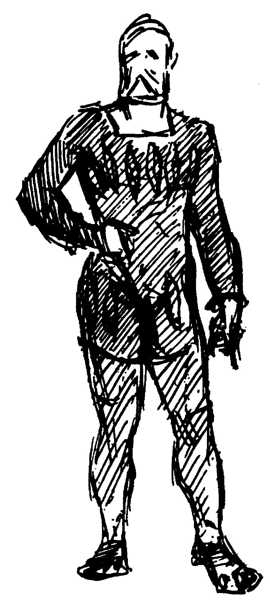 Gilbert sketch of a Shape suit