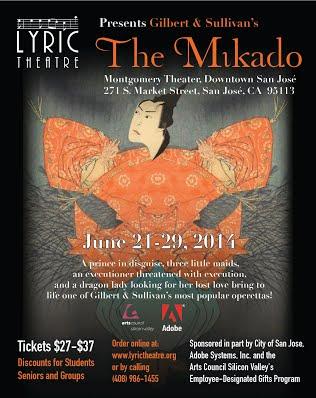 Lyric Theatre of San Jose poster for The Mikado 2014
