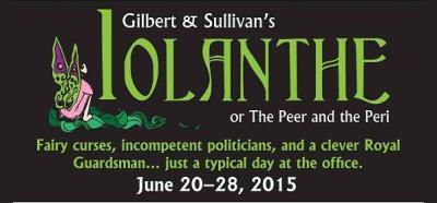 Lyric Theatre of San Jose banner for Iolanthe, 2015